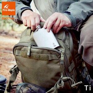 Image 4 - Fogo de bordo titânio hip flask bacchus 200ml 88g drinkware ultraleve escalada caminhadas acampamento ao ar livre uísque flagon