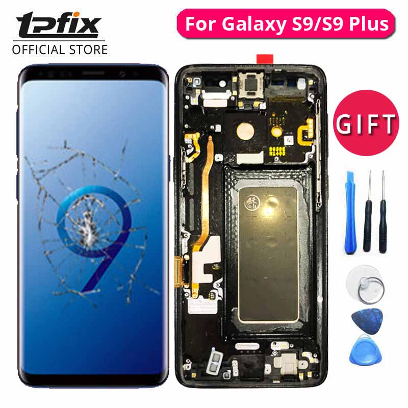 TPFIX For Samsung Galaxy S9 LCD S9 Plus OLED Display Grade AAA Touch Screen Digitizer Glass Frame Bezel Chasis Assembly ReplaceTPFIX For Samsung Galaxy S9 LCD S9 Plus OLED Display Grade AAA Touch Screen Digitizer Glass Frame Bezel Chasis Assembly Replace