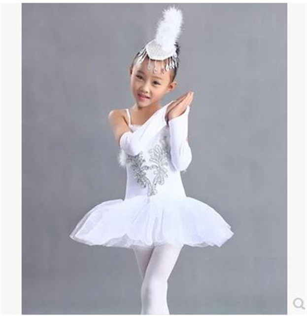eeb67cd119d3 Children Swan Lake Ballet Costume Girl White Ballet Dress Dancewear ...