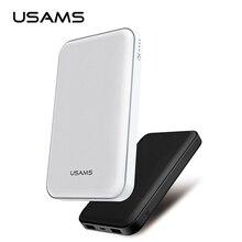 USAMS Мощность Bank 10000 мАч 5 В 2.1A двойной Выход Мощность банк Портативный внешний аккумулятор Micro USB для Iphone 5 6 7 все мобильный телефон