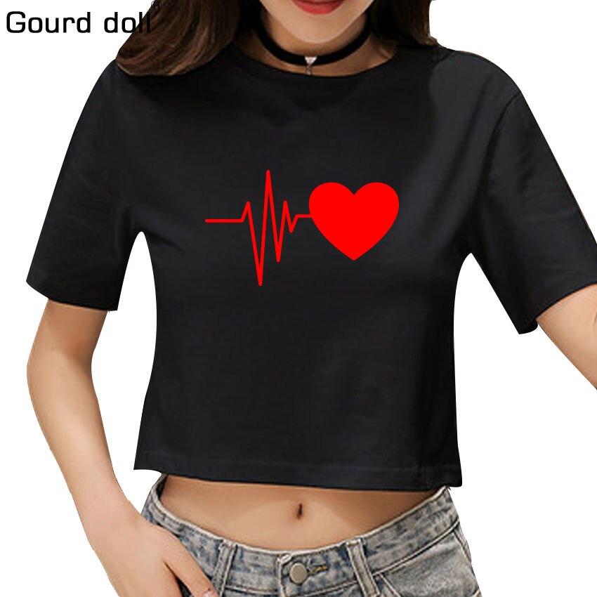 Gourd doll Fashion Ladies Short Sleeve Shirts Clothes Women Tops O-Neckline T-Shirts Fem ...