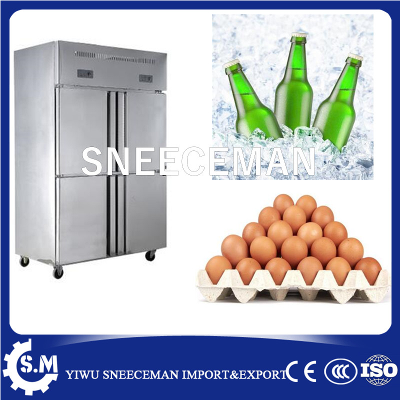 4 Door Hotel Restaurant Kitchen Upright Deep Freezer