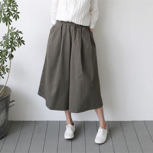 Wide Leg   Pants   Women High Waist   Pants   2017 Summer   Pants   For Women Black   Capris   Vintage Artistic   Pants
