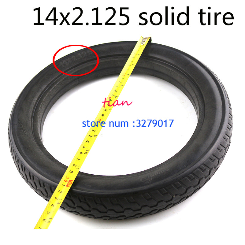 free shippingSolid Rubber Electric tire 14 2 125 Electrombile Solid Tyre 14x2 125 Inflation free Tire