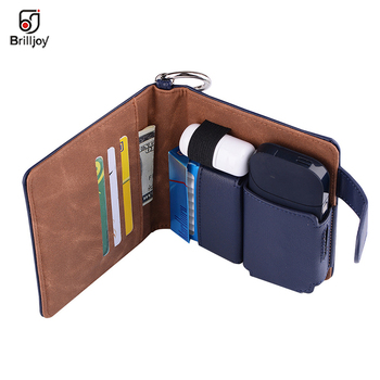 Waist bag PU Leather Box Holder Storage for iQOS Electronic Cigarette Accessories Full Protective Carrying Case for iqos Case i4 bk l protective leather waist belt bag case for iphone 4s 4 black