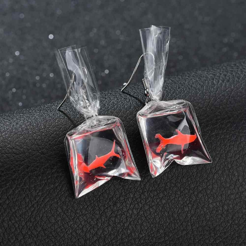 Terreau Kathy Cute Koi Fish Water Bag  Earrings For Women 2018 New Trendy Girl Brincos Anti Allergy Graceful Joker Eardrop