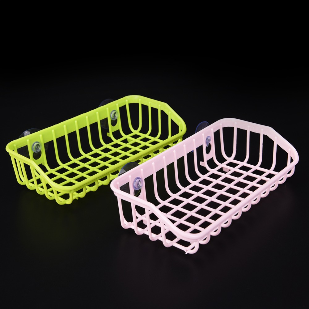 1PCS Kitchen Double Suction Cup Sink Shelf Soap Dishes Kitchen Sucker Storage Tool Wholesale