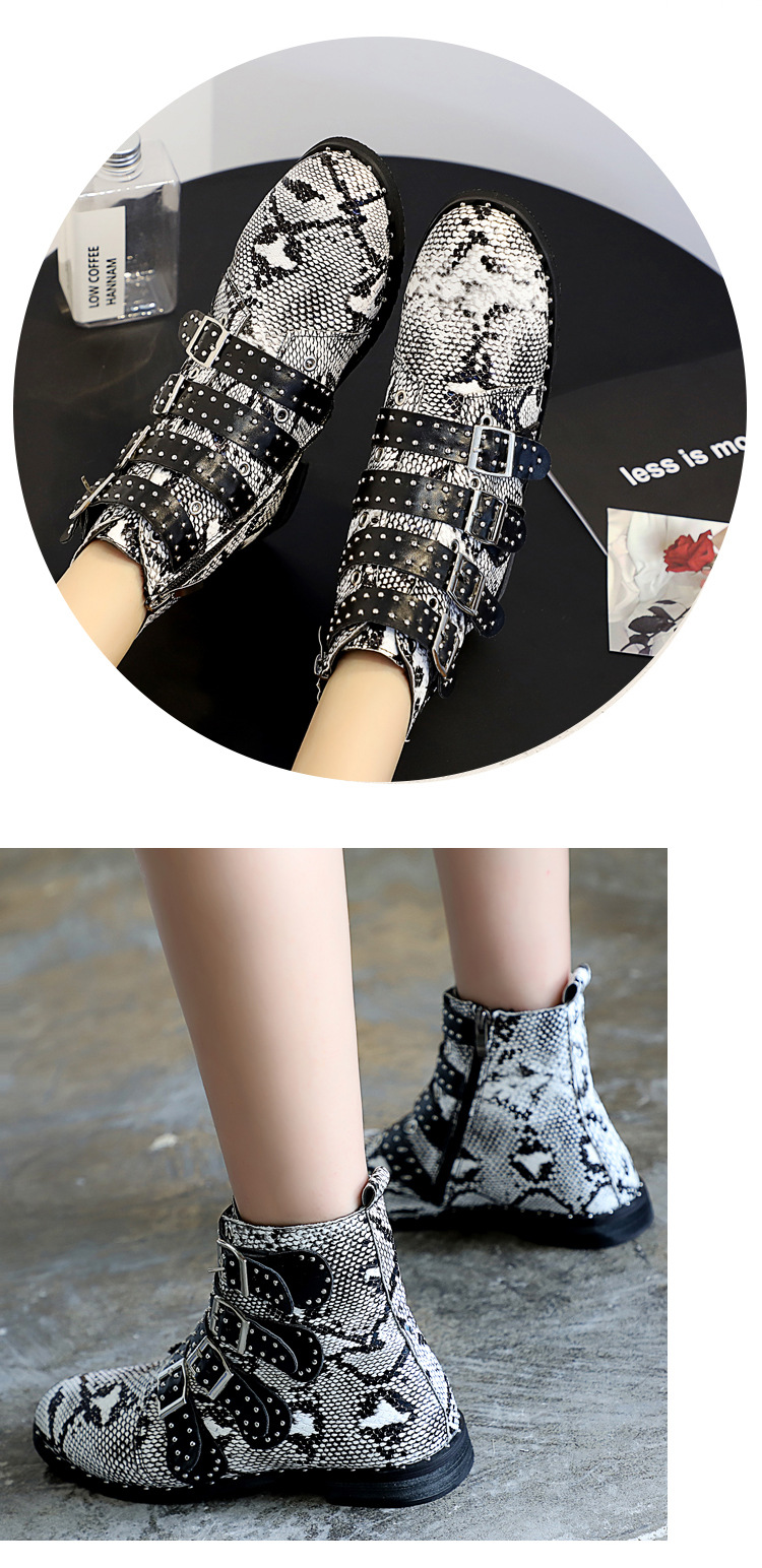 neutral men and women Shoes 2018 Autumn Fashion Boots Rivet belt buckle Buckle Leather Short Booties Good Quality drop shopping (8)
