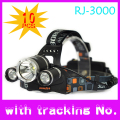 10 Pcs/Lot BORUIT 6000 Lumens 3xT6 LED Head Lamp Flashlight Headlight Headlamp Lantern+Car Charger+Ac Charger +2x18650 Battery
