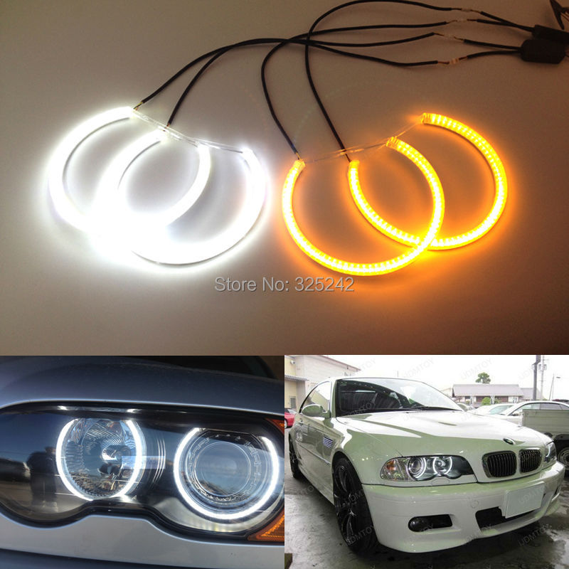 For BMW E46 M3 with factory equipped HID xenon headlights Excellent Ultrabright Dual Color Switchback smd LED Angel Eyes Kit nike nike ni464aghca01