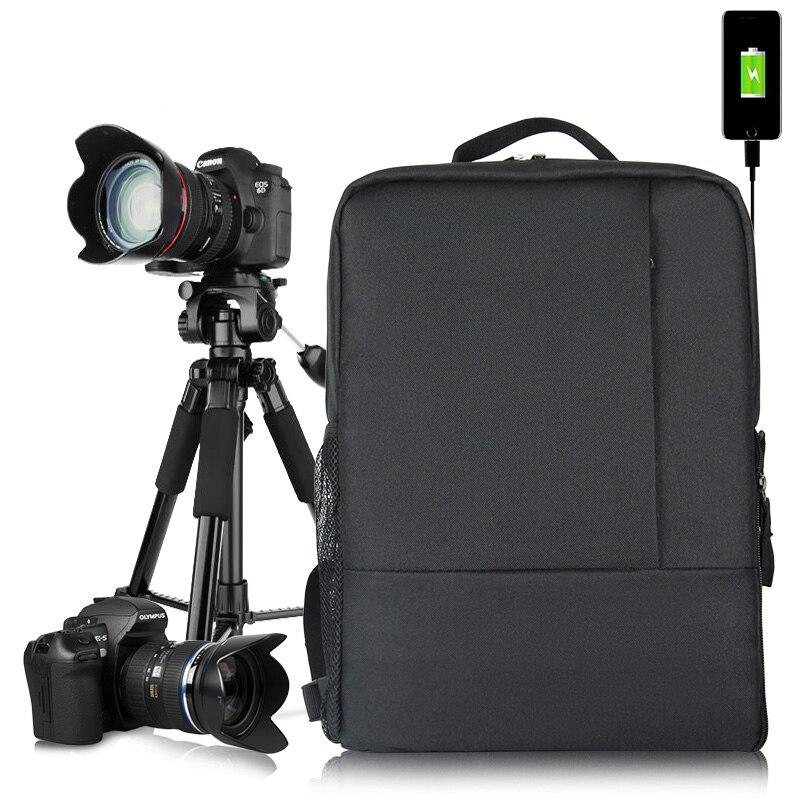 Photography Digital DSLR Photo Backpack Travel Backpack Camera tripod Backpack USB Charge Laptop Computer Backpack For Student hadley backpack