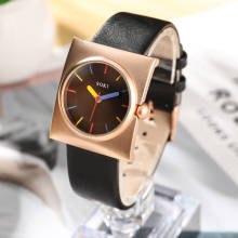 Rose Gold SOKI Brand Leather Watch Luxury Classic Wrist Watch Fashion Casual Simple Quartz Wristwatch Clock Women Watches цены