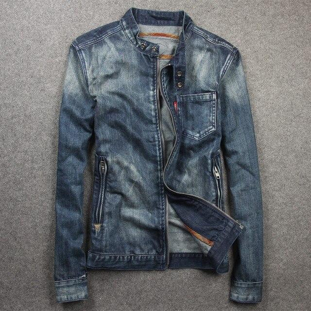 Aliexpress.com : Buy Brand Clothing Men's Denim Jacket Slim Fit ...
