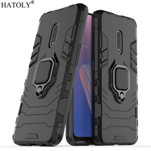 OPPO Realme X Case Cover for OPPO Realme X Finger Ring Phone Case Shell Bumper Protective Hard PC Armor Case For OPPO Realme X oppo realme x lite case shockproof armor shell hard rubber tpu back phone cover oppo realme x lite case for oppo realme x lite