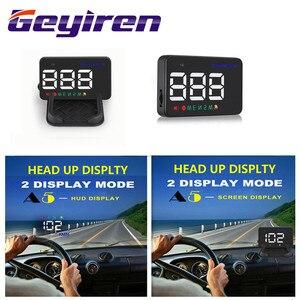Image 2 - GEYIREN A5 GPS HUD 3.5 inch Car Head Up Display Windshield Projector Overspeed digital speedometer gps 2 Displays Mode hud 2017