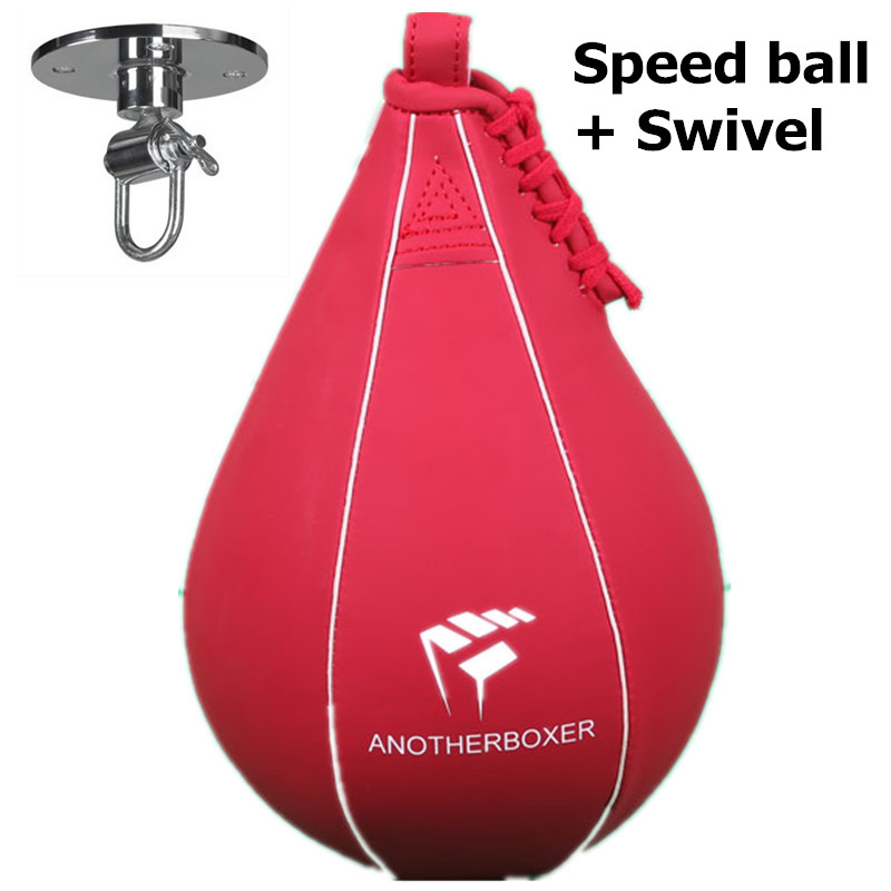 Double End Muay Thai Boxing Punching Bag Speed Ball Pear Punch Training Fitness <font><b>saco</b></font> <font><b>de</b></font> da <font><b>boxeo</b></font> (With hanging) image