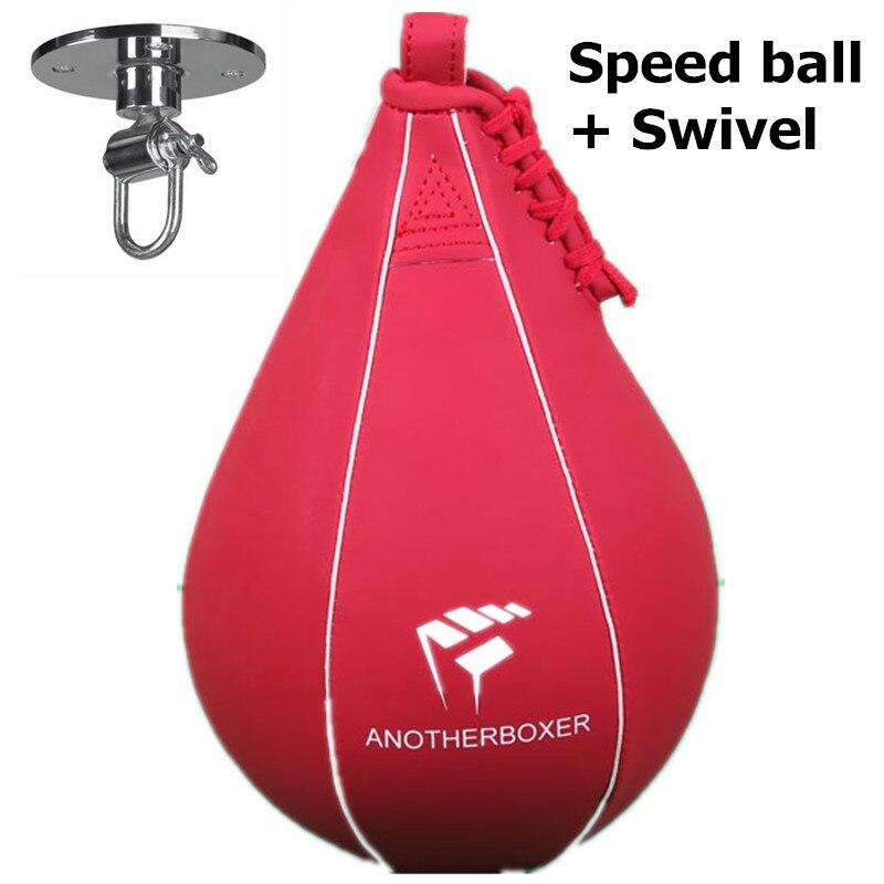 Double extrémité Muay Thai boxe sac de frappe vitesse balle poire Punch entraînement Fitness saco de da boxeo (avec pendaison)