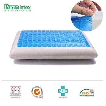 PurenLatex 60*40*12 Silicone Gel Da Espuma Da Memória Travesseiro Verão Fresco Impedido Para Vértebra Cervical Espondilose e Eczema cura