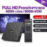 IPTV France Box 2GB 16GB Android 8.1 RK3229 2.4G Wifi HK1 mini with 1 Year SUBTV Subscription IPTV France Belgium Arabic IP TV