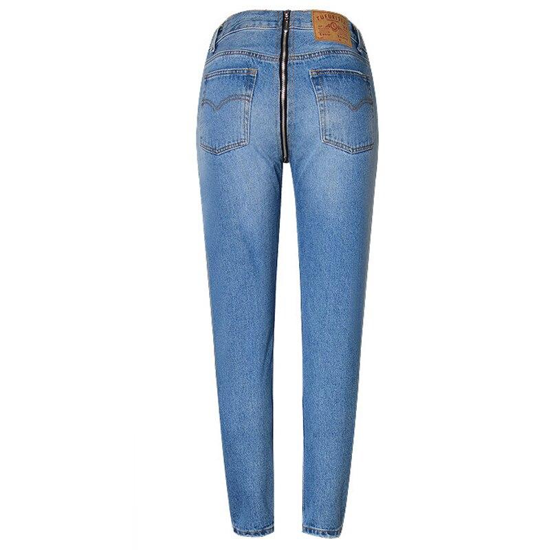 Women High Waist Denim Back Zipper Jeanss