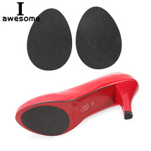 1 Pair High Heel Sole Anti-slip Self-Adhesive Protective Stickers Black Oval shape Non-slip Protect Pads Cushion Insole