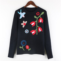 Women S Slim Knitted Jumper Sweater Tops Pullover