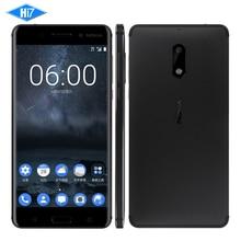 "Nuevo Desbloqueado Nokia 6 4 GB RAM 64 GB ROM 4G LTE Dual SIM Qualcomm Octa Core 5.5 ""Huella Digital 3000 mAh 16MP Nokia6 Celular Inteligente teléfono"