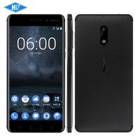 Nuovo Sbloccato Nokia 6 4 GB di RAM 64 GB ROM 4G LTE Dual SIM Qualcomm Octa Core 5.5 ''di Impronte Digitali 3000 mAh 16MP Nokia6 Cellulare Smart telefono