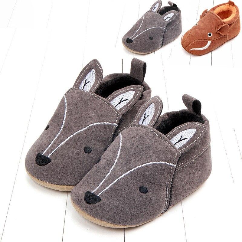 פעוט יילוד תינוקת ילד רך Sole עריסה חמודה נעלי נעל הראשונה הליכון אנטי להחליק נעל תינוק נעלי שועל