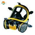 Química máscara protectora, cara llena máscara de gas con cartucho de filtro