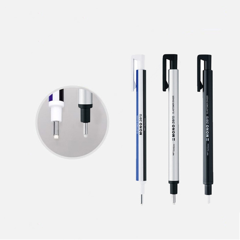 Round Tip Eraser Refill Pack Ultrafine Pencil Rubber Perfect Revise Details Professional Drawing Eraser Pen Accurate Correction