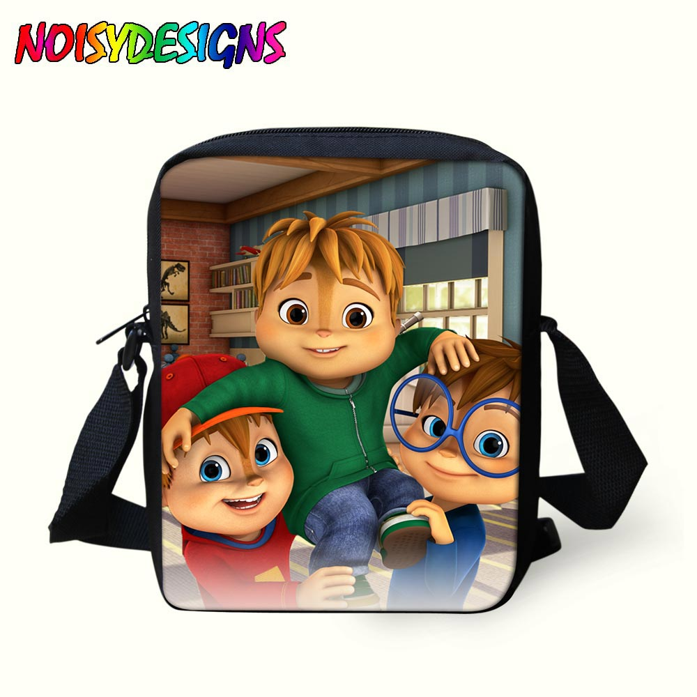 Kids Mini Handbags Alvin And The Chipmunks Messenger Bags for Children  School Bag Boys mochila Bolsa cfe0044a9dfbb