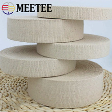 9Meter 20/25/32/38/50mm Polyester Cotton Webbings Bag Strap Webbing Ribbon Backpack Belt Strapping Bias Binding Tapes