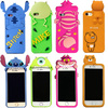 For IPhone7 Fashion 3D Cute Stitch Mike Monster Chesire Smile Cat Soft Rubber Silicon Phone Case