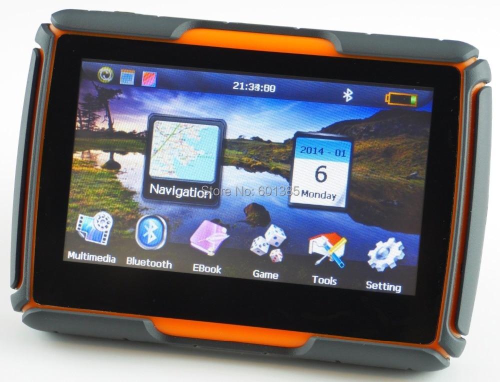 4.3 дюймов водонепроницаемые мотоциклетные/Car GPS блок с Bluetooth, GPS приборы для мотоциклов навигация-Водонепроницаемый, 4 ГБ внутренней памяти