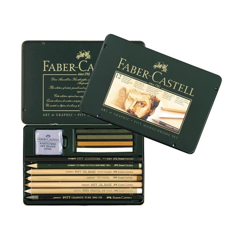 FABER CASTELL 12 pièces de crayon croquis a pastel croquis peinture une combinaison de carbone 112960