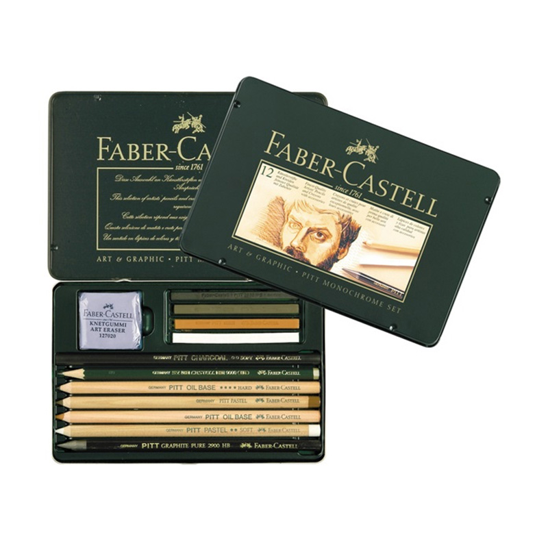 FABER CASTELL 12 pieces of pencil sketch a pastel sketch painting a combination of carbon 112960FABER CASTELL 12 pieces of pencil sketch a pastel sketch painting a combination of carbon 112960