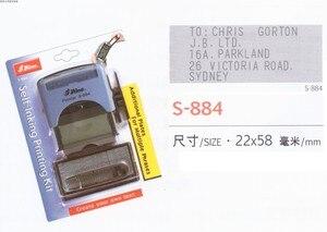 Image 3 - Shiny S 884 22x58mm Selbst Farbwerk Stempel Zollamt Stationären Business Mini D I Y Set Stamper Druck Kit