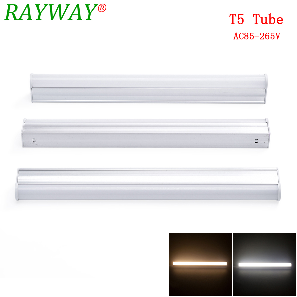 RYAWAY LED Tube T5 Light 30CM AC 85V~265V LED Fluorescent Tube LED T5 Tube Lamps 5W Cold White Light Lampara Ampoule PVC Plastic цена