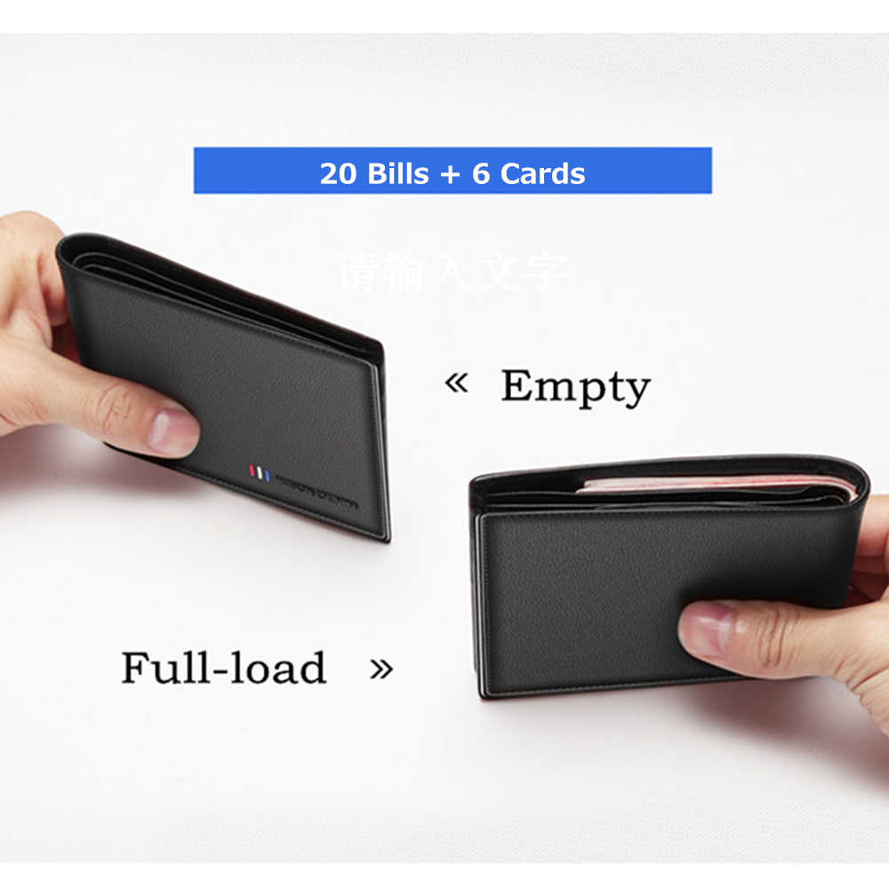 BISON DENIM 100% de cuero de vaca Cartera de moda para hombre Bifold Card Holder Wallet masculino corto estándar monedero de alta calidad N4475