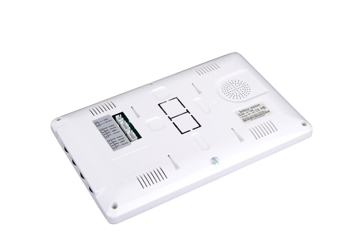 2017new stype 7INCH Video DOORPhone Intercom System TFT-LCD Color Screen Monitor Night Vision HD outdoor panel video DoorBell