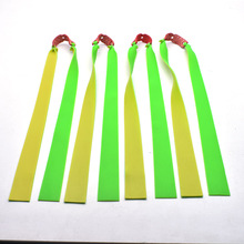 10 pcs 1.2mm Double Color Flat Rubber Band Slingshot Hunting Strong Powerful Camping 1 PC Bow & Arrow SPORT