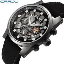 2017 Top Marca de Luxo Relógio Cronógrafo De Quartzo Homens Esportes Relógios Militar Do Exército Relógio De Pulso Masculino Relógio relogio masculino CRRJU