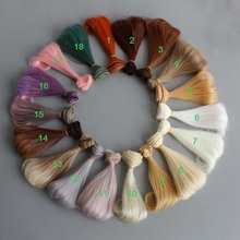 20PCS/LOT New Doll Tress Curly Wig Hair BJD DIY 15CM