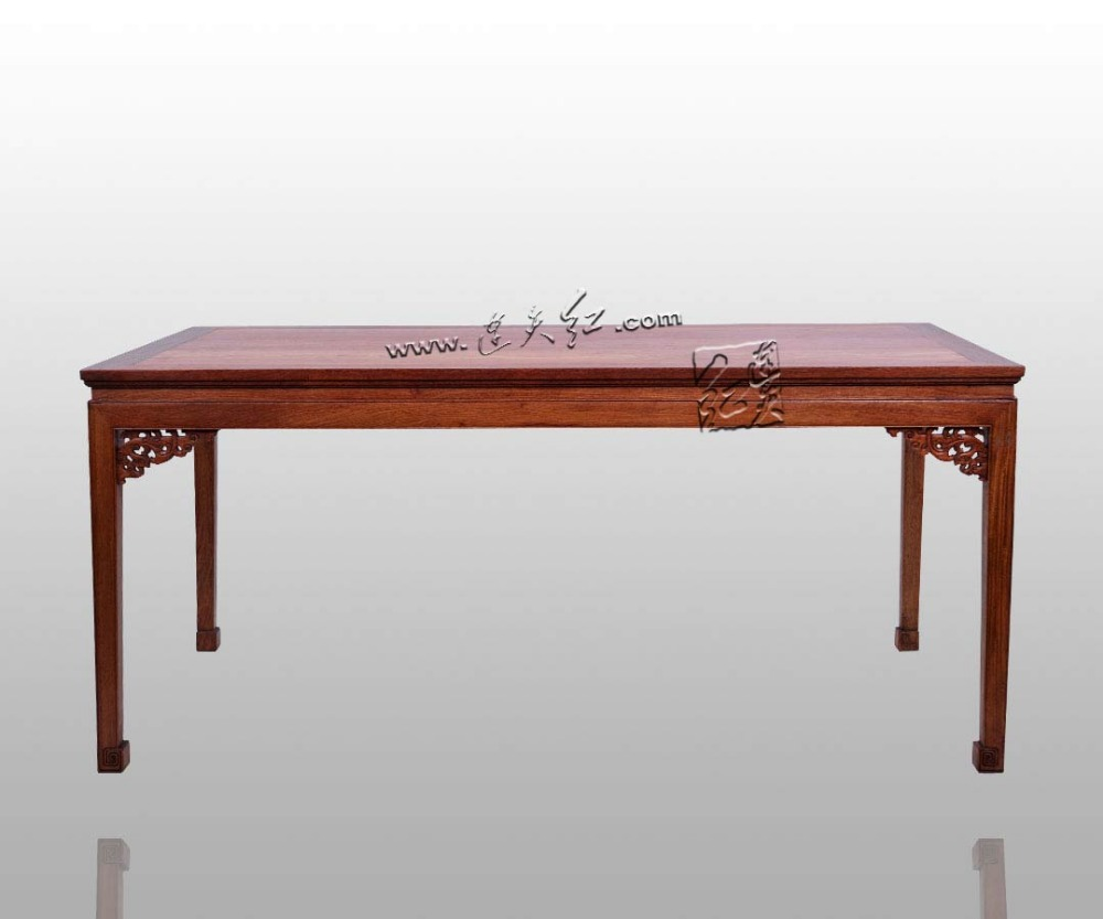Attrayant Burma Rosewood Bureau 6 Seats Long Solid Wooden Desk Home Furniture  Rectangle Dining Table China Ming U0026 Qing Classical Fitments  In Dining  Tables From ...