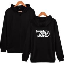 New Fashion Twenty One Pilots Zipper hoodies men/women Cotton Men's Harajuku Hip Hop Zipper men/women Plus Size Clothing