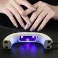 LKE 9W USB Portable Mini Nail Dryer LED UV lamp for Curing Nail Gel Polish Christmas Gift