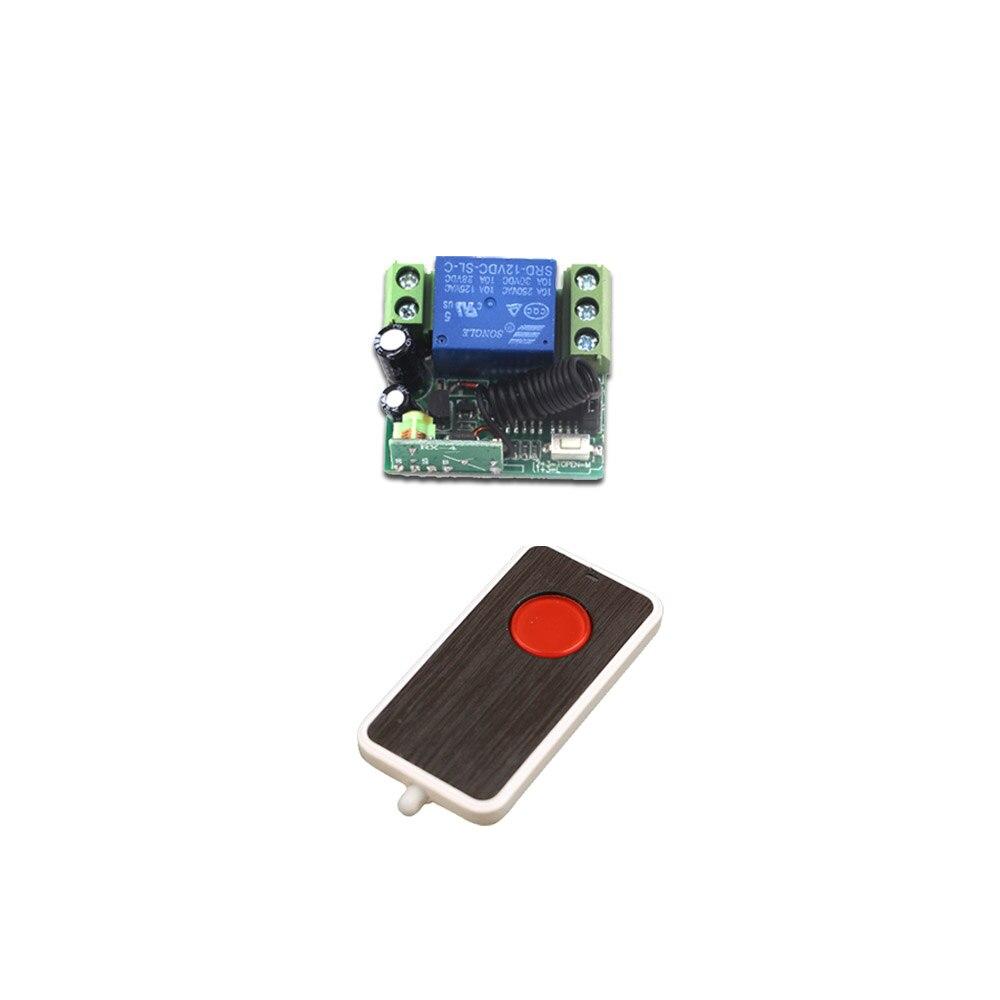 Alta Calidad DC12V Mini 315/433 MHz RF Control Remoto Inalámbrico Interruptor Un