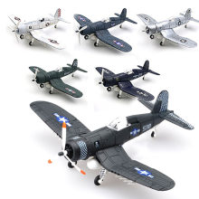 1/48 Scale Assemble Fighter Model Toys Building Tool Sets Flanker Combat Aircraft Diecast Pirate Based F4U Random Color(China)