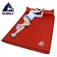 HEWOLF zewnątrz grube 5 cm automatyczne nadmuchiwane poduszki pad zewnątrz namiot camping maty podwójne nadmuchiwane łóżko materac 2 kolory